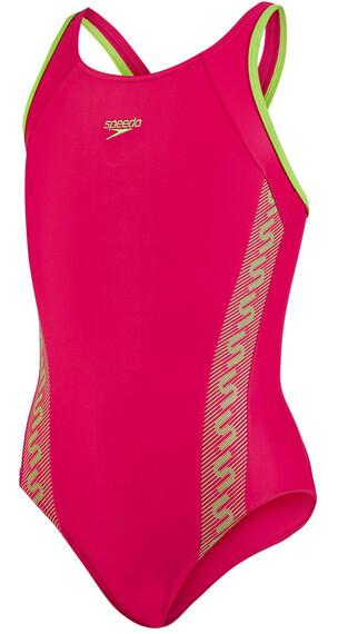 speedo Endurance10 Monogram Strój kąpielowy różowy